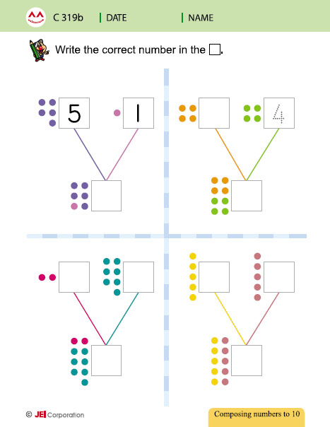 JEI Williamsburg math tutoring workbook example - Level C
