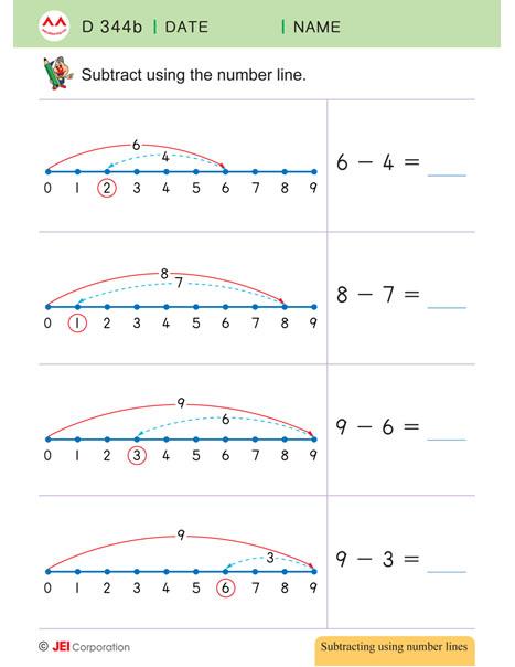 JEI Williamsburg math tutoring workbook example - Level D