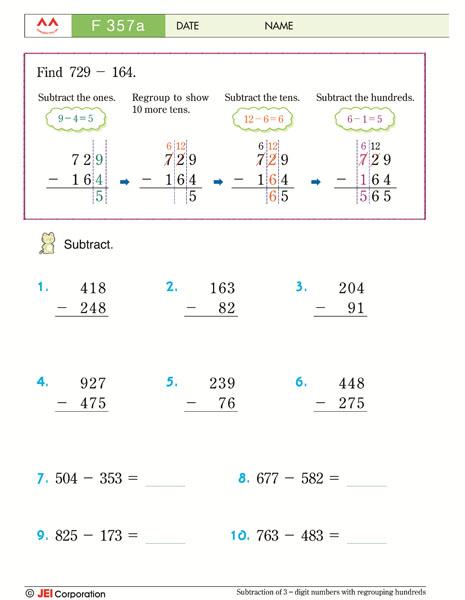 JEI WIlliamsburg math tutoring workbook example - Level F