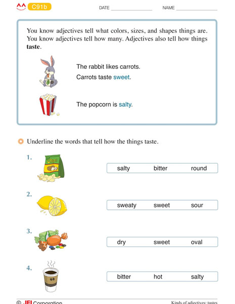 JEI Williamsburg english tutoring workbook example - Level C