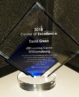 JEI center of excellence award 2018